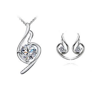 Womens Jewellery Set Necklace and Stud Earrings