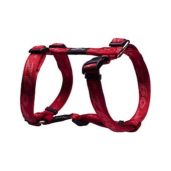 Rogz Alpinist Durable Soft Paw Design Dog H-Harness, Red