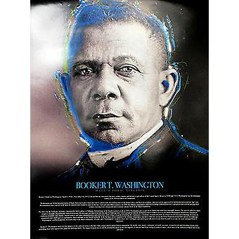 Booker T Washington Juliste Elämäkerta (18x24)