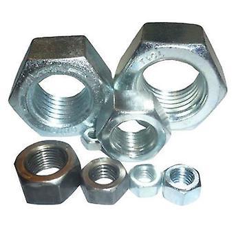 M4 M5 M6 M8 M10 M12 M14 Hexagon Full Nut Zinc Plated Steel Hex Nuts DIN934