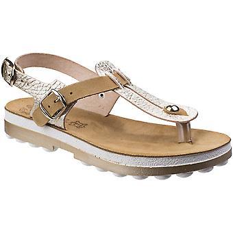 Fantasy Womens/Ladies Marlena Buckle Up Ankle Strap Summer Sandals