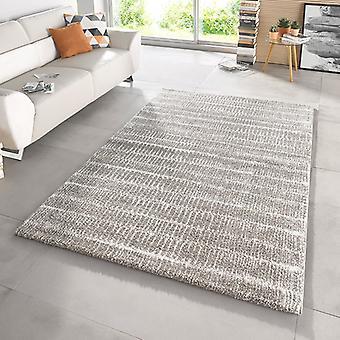 Design cut pile carpet deep pile Nova grey
