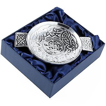 Celtic Knotwork Eternity Pewter Quaich