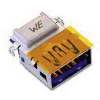 USB 3.0-type En vandret inverteret med forskudt 1,75 mm WR-COM-stik, vandret montering WR-COM 692121330100 Würth Elektronik Indhold: 1 stk(er)