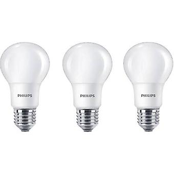 Philips Lighting LED EEC A+ (A++ - E) E27 Arbitrary 8 W = 60 W Warm white (Ø x L) 60 mm x 110 mm 3 pc(s)