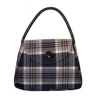 Tartan S Handtasche (Stewart Navy)