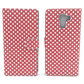 Mobiele telefoon geval zakje voor mobiele Huawei honor 7 polka dot Red