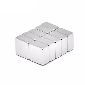 Imán neodimio 10 x 10 x 5 mm bloque N35 - 5 unidades