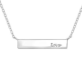 Bar Inline - 925 Sterling Silver Plain Necklaces - W20476X