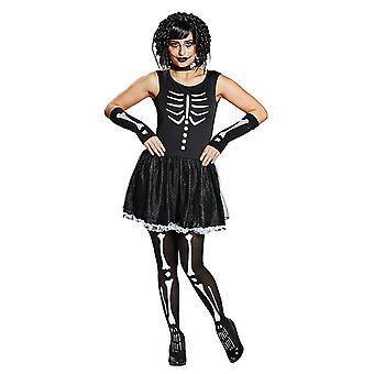 Teen skjelettlidelser skjelett skjelett kjole Seklettkostüm kostyme for kvinner