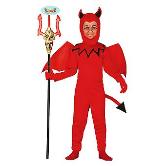 Guirca Devil med vinger barna Halloween kostyme Carnival Dämon