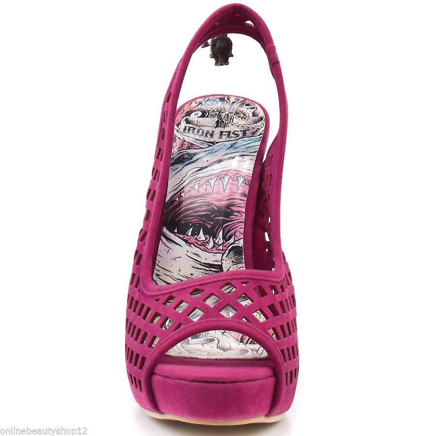 Womens Iron Fist High & Dry Platform Peep Toe Shoes