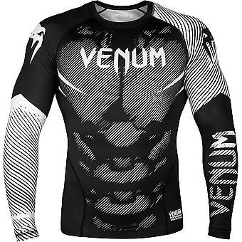 Venum No-Gi 2.0 Långärmad MMA komprimering Rashguard - svart/vit