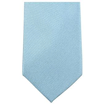 Knightsbridge Krawatten Plain Diagonal gerippt Tie - Himmelblau