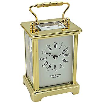David Peterson Obis 8 Day Mechanical Bell Strike Movement Carriage Clock - Gold