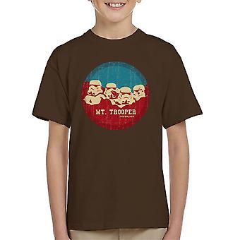 Original Stormtrooper Mt Trooper Rushmore Kid's T-Shirt