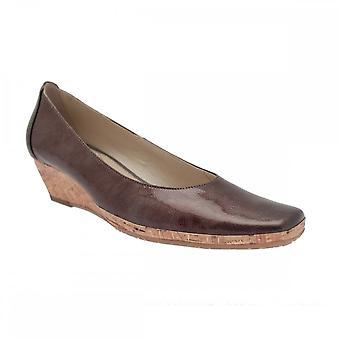 Van Dal Ladies Low Cork Heel Wedge Shoe