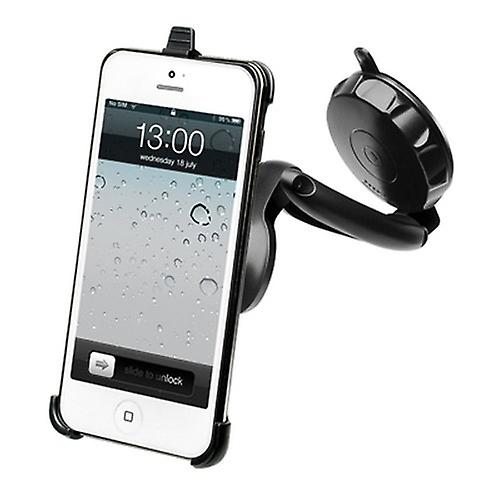 Muvit car holder 360 °, for windscreen fitting, Smartphone iPhone 5 5s SE incl. micro-USB car charger adapter