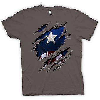 Koszulka męska - Retro Kapitan Ameryka Super Hero zgrywanie Design