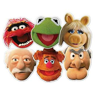 The Muppets Card Fancy Dress Mask Set of 6 (Kermit, Miss Piggy, Animal, Statler, Waldorf and Fozzie Bear)