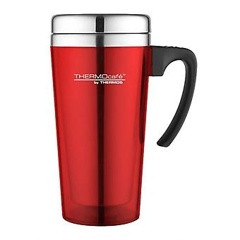 Thermos Red 420ml ThermoCafe Soft Touch Travel Mug