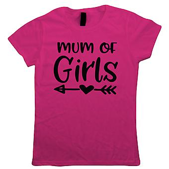 Mum Of Girls, Arrow Heart, Womens Funny T Shirt | Funny Novelty Perfect Gift Present For Mum Mom Mama Ladies | Mothers Day Birthday Christmas from Daughter Son Grandson