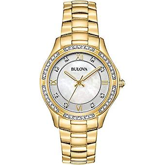 Bulova Ladies Quartz analogue watch with stainless steel band 98L256