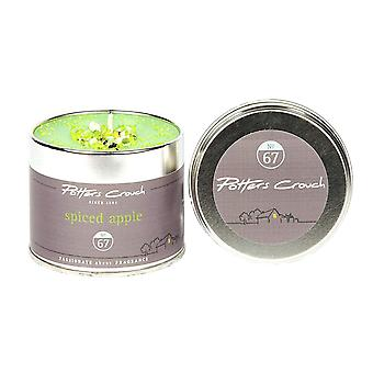 Potters Crouch Spiced Apple Scented Candle in Tin