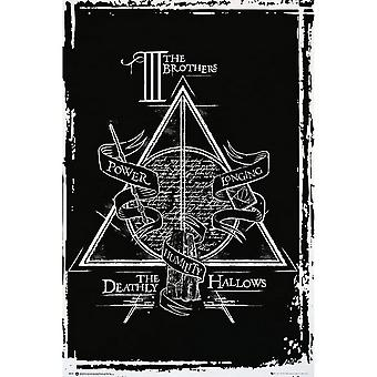 Harry Potter Official Deathly Hallows Graphic Maxi Poster