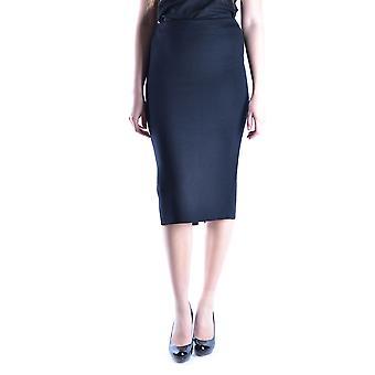 Prada Ezbc021017 Kvinder's Sort uld nederdel