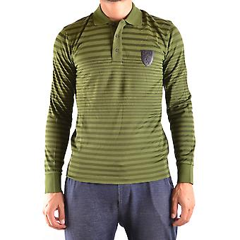 Bikkembergs Ezbc101043 Men's Green Cotton Polo Shirt