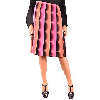 Marco De Vincenzo Ezbc120002 Women's Multicolor Silk Skirt