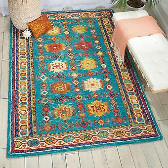 VIB09 vibrante rectángulo Teal alfombras alfombras Funky