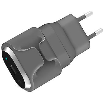 Force Power 1 Port USB 2.4A Power Charger Lifetime Warranty - Grey