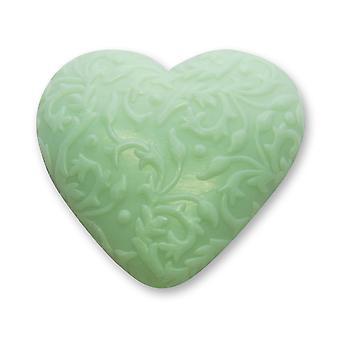 Florex BioLina orgânica ovinos leite sabão-montanha ervas-coração com ornamento 80 g