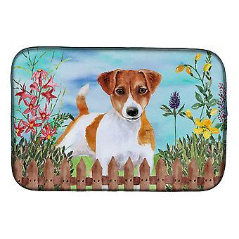 Carolines Treasures CK1251DDM Jack Russell Terrier kevät lautasen kuivaus matto