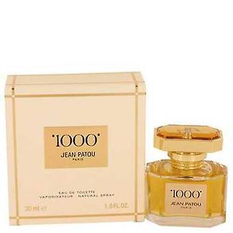 1000 por Jean Patou Eau de toilette spray 1 oz (mulheres) V728-537964