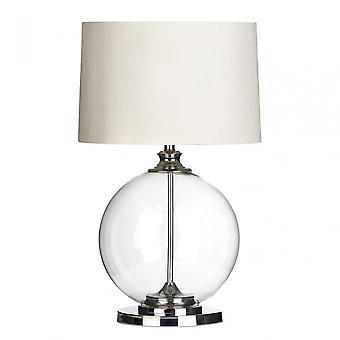 Premier Home Edna Table Lamp, Glass, Linen, Clear