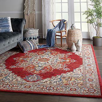 Majestätische Nourison MST05 rote Rechteck Teppiche traditionelle Teppiche