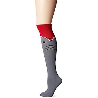 Women's Knee High Socks - K Bell - Shark Medium Gray