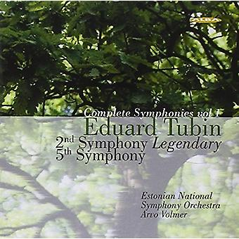Tubin / Estonian Nat'L Sym Orch / Volmer - Symphony 2: Legendaire / Symphony 5 [CD] USA import