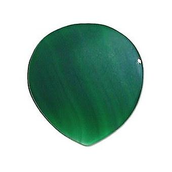 Pickboy Exotic Guitar Picks/Plectrums Natural Stone Hand Made Round - Green Agate Large 2mm