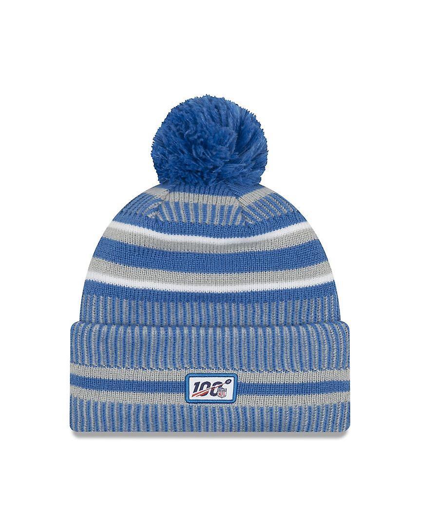 New Era On Field Sport Knit Hm Beanie ~ Detroit Lions