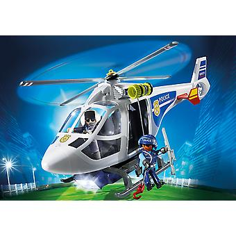 Playmobil 6921 City Action politie helikopter met LED Search Light Playset