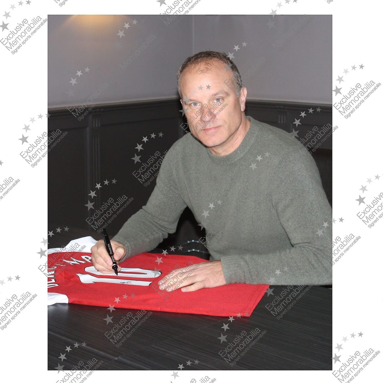 Dennis Bergkamp Signed Arsenal Football Shirt