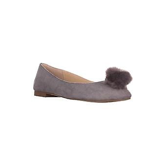 Charles by Charles David Womens 2D17F091 Suede Almond Toe Slide Flats