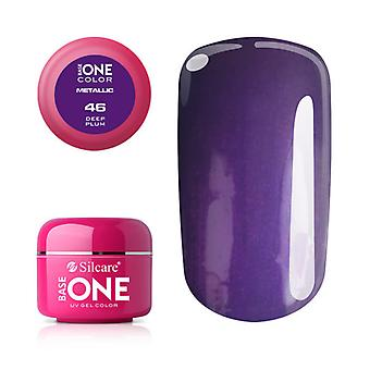 Base one-Metallic-Deep plum 5g UV Gel