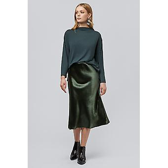 Louche Tehani Satin Bias Midi Skirt Midi Green