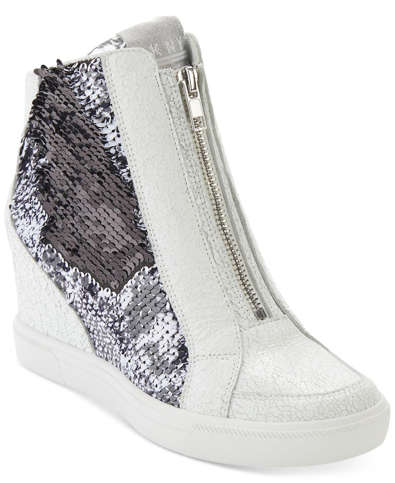 DKNY Femmes Caz Hight Top Zipper Fashion Sneakers