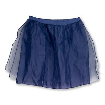 Issac Mizrahi Live! Skirt Double Layer Tulle Party Tanzanite Purple A213379